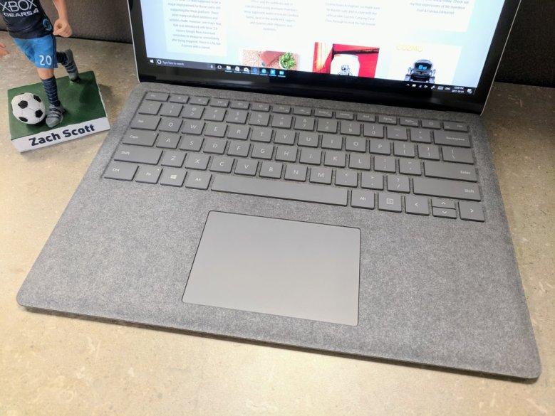 Trackpad: Great! Alcantara Fabric: Excellent! Keyboard: Meh!