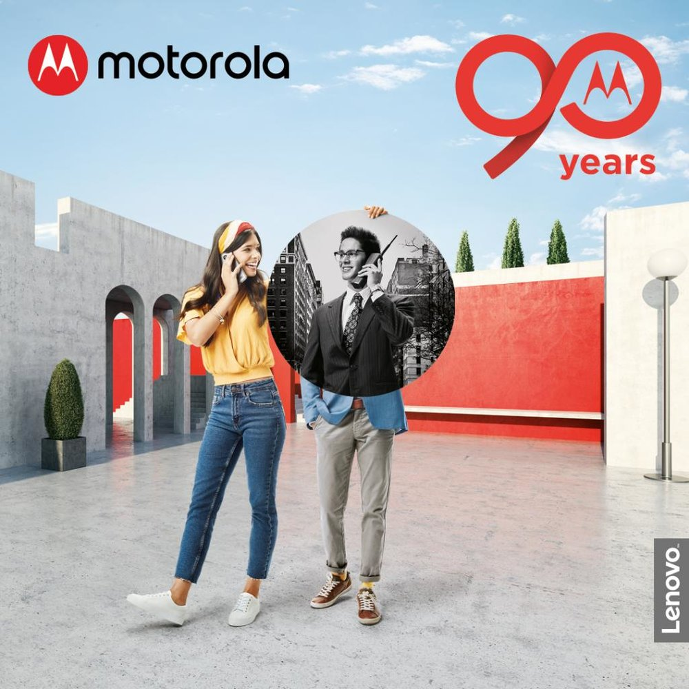 #90YearsofMotorola - Motorola, founded in 1928, with only 5 employees is celebrating its 90th birthday with some great deals.  Photo: https://twitter.com/Moto/status/1044512586937577472